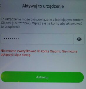 Blokada konta Xiaomi